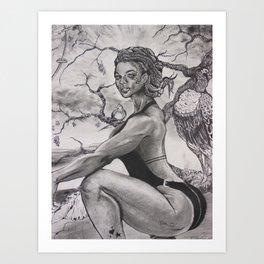 "Lovely Geisha ""JUNE"" Art Print"