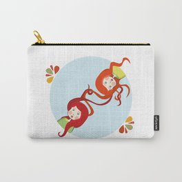 Tangerine and Talli the twins  Carry-All Pouch