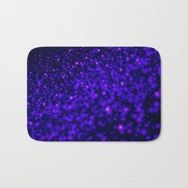 Christmas Blue Purple Night Snowflakes Bath Mat