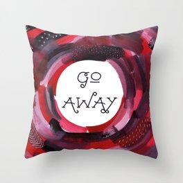 Introvert: Go Away, Grumpy Art. Throw Pillow