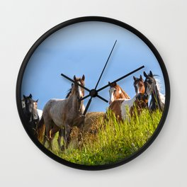 The Herd Greets Us Wall Clock