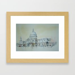 Saint Paul's Cathedral, London. Framed Art Print