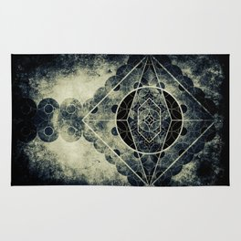 Sacred Geometry for your daily life -  SATURN EYE Rug