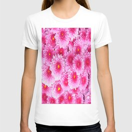 Decorative Pink Mums Colored Art T-shirt