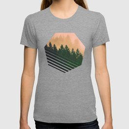 Cascadia Green Trees and Sunset T-shirt