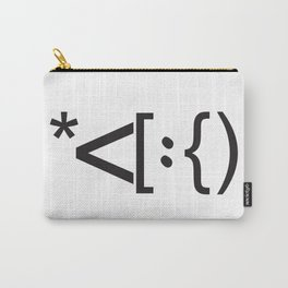 Santa Face Geek Computer Language IT Christmas Carry-All Pouch