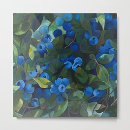 A Blueberry View Metal Print