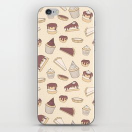 Chocolate Pastry Pattern iPhone Skin