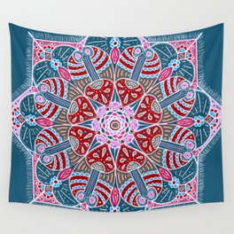 Holiday Doodles & Bits Wall Tapestry