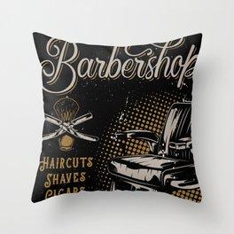 Gentlemen's Barber Shop LA Throw Pillow