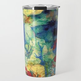 Fairy with Red Flowers Travel Mug