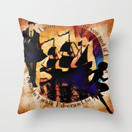 Kaz and Inej - crawl Throw Pillow