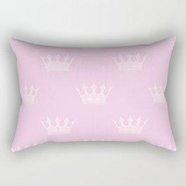 Princess Charlotte Pink- Royal Princess Rose Crowns Rectangular Pillow