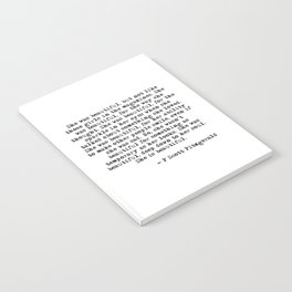 She was beautiful - Fitzgerald quote Notebook