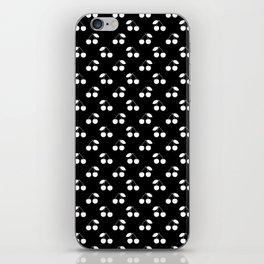 White Cherries On Black iPhone Skin