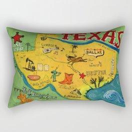 Postcard from Texas print Rectangular Pillow