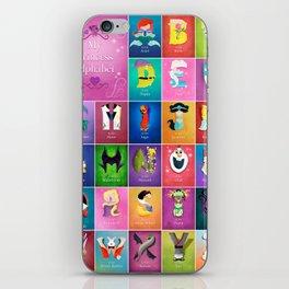 The Princess Alphabet iPhone Skin