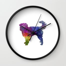 Dutch Smoushond in watercolor Wall Clock