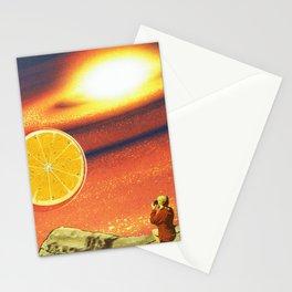 Orange planet Stationery Cards