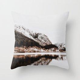 LAKE - OCEAN - BAY - SNOW - MOUNTAINS - HILLS - PHOTOGRAPHY Throw Pillow