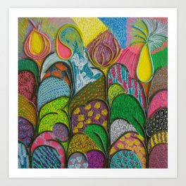 Spring Abstraction Art Print