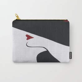 Retro Fashion; Glamour Lady with Black Hat Carry-All Pouch