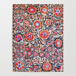 Shakhrisyabz Suzani Uzbek Embroidery Print Poster