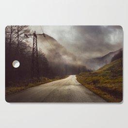 Foggy road Cutting Board