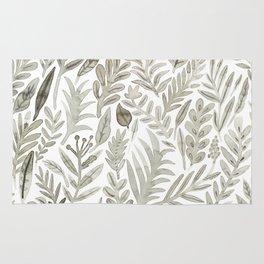 Grey Botanical Rug