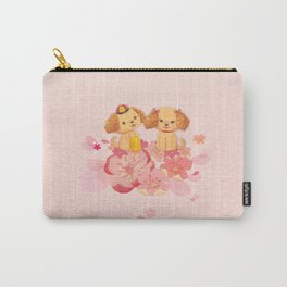 dog couple sweet sakura Carry-All Pouch