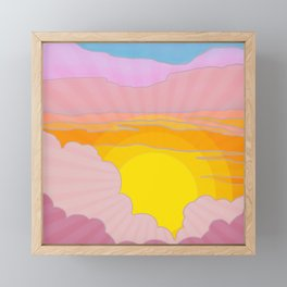 Sixties Inspired Psychedelic Sunrise Surprise Framed Mini Art Print