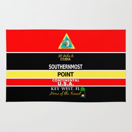 Key West Southernmost Point Buoy Rug
