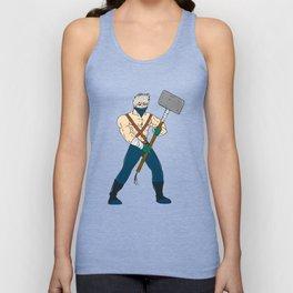 Ninja Masked Warrior Sledgehammer Cartoon Unisex Tank Top