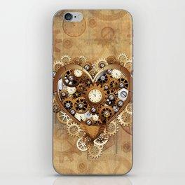 Steampunk Heart Love iPhone Skin