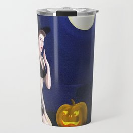 Vintage pin up - Halloween Travel Mug