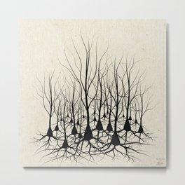 Pyramidal Neuron Forest Metal Print