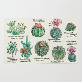 Cactus Dictionaly page1 Rug