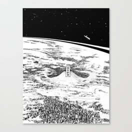 Space upon us Canvas Print