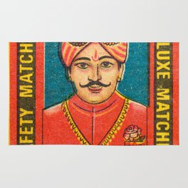 Old Matchbox label #9 Rug
