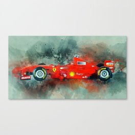 F1 Sports Car Canvas Print