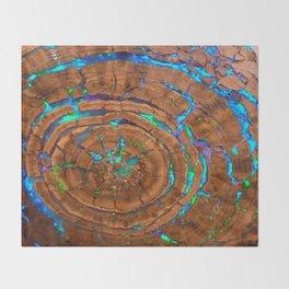 Sea of blue opal Throw Blanket