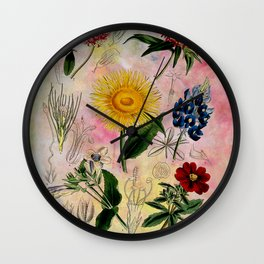 Botanical Study #5 Wall Clock