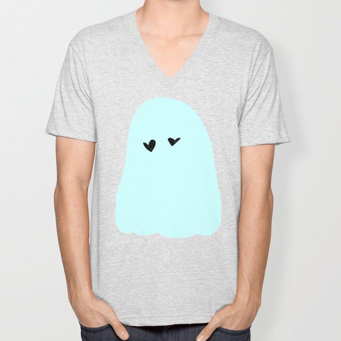 ghost in love Unisex V-Neck