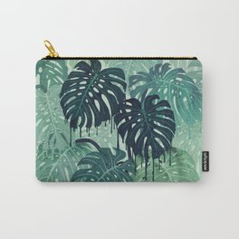 Monstera Melt (in Green) Carry-All Pouch