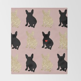 Dazzling French Bulldogs Throw Blanket