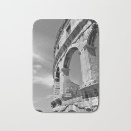arena amphitheatre pula croatia ancient high black white Bath Mat