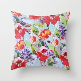 campagne fleurie Throw Pillow