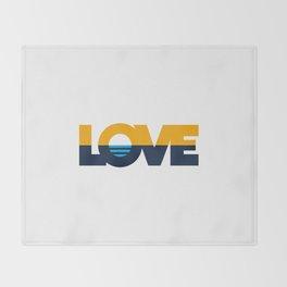 LOVE - People's Flag of Milwaukee Throw Blanket