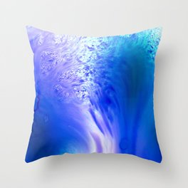 Blue Splash Abstract Throw Pillow