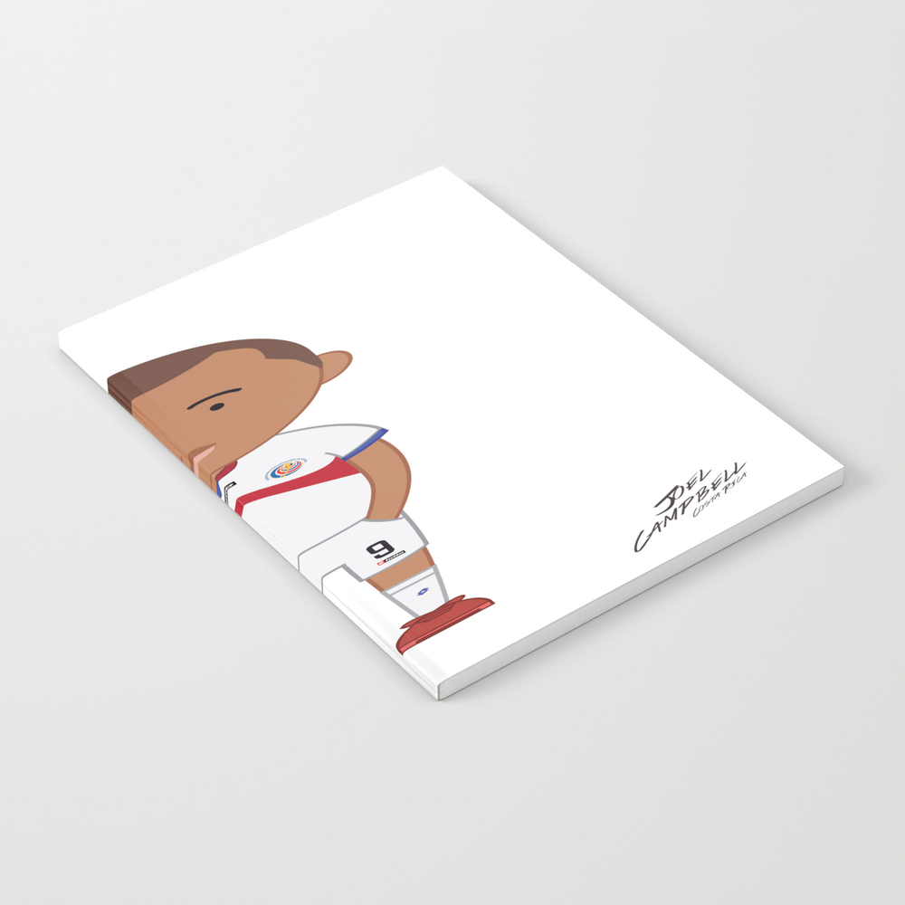 Joel Campbell - Costa Rica - World Cup 2014 Notebook by Toonsoccer NBK9027164